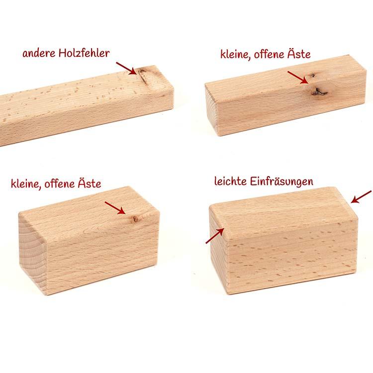 Holzbausteine 2. Wahl