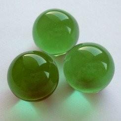 Kristallglaskugel 16 mm für Kugelbahn dunkelgrün