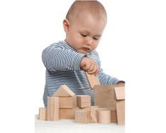 2-in-1 Steckbox/Formensortierspiel + Baby-Bauklötze