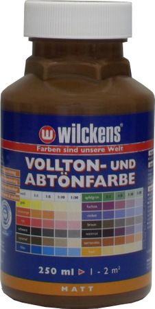 WILCKENS Voll- und Abtönfarbe BRAUN Matt LF 0,25 Liter