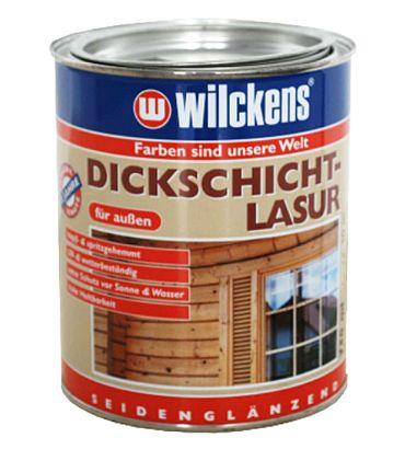 WILCKENS Dickschicht Holzlasur TEAK seidenglänzend 0,75 Liter