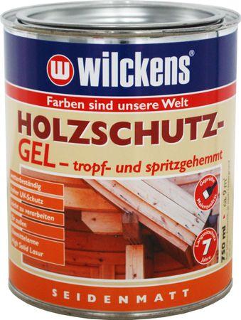 WILCKENS Holzschutz GEL NUSSBAUM seidenmatt 0,75 Liter