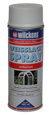 WILCKENS Weisslack Spray SEIDENMATT 400 ml
