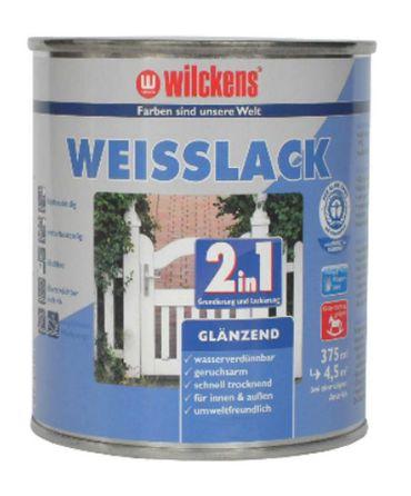 WILCKENS Weisslack 2in1 glänzend WEISS 750 ml