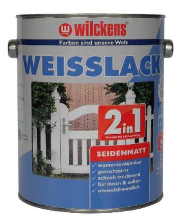WILCKENS Weisslack 2in1 seidenmatt WEISS 2,5 Liter