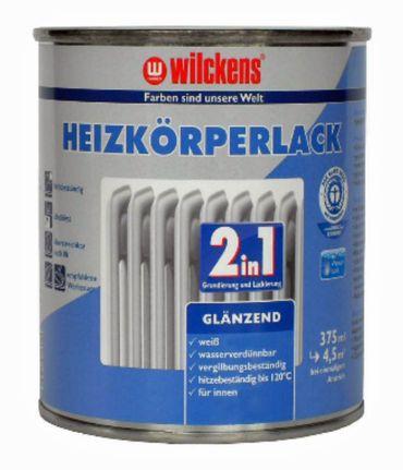 WILCKENS Heizkörperlack 2in1 GLÄNZEND WEISS 750 ml