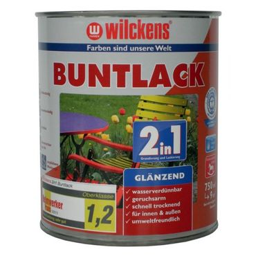 WILCKENS Buntlack 2in1 FEUERROT RAL 3000 GLÄNZEND 375 ml