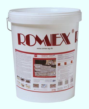 Romex 2-K Pflasterfugenmörtel ROMPOX DRÄN PLUS 25 kg Eimer STEINGRAU