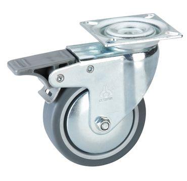 Apparate Lenkrolle 75 x 25 mm Platte 60 x 60 mm Tragkraft 50 kg