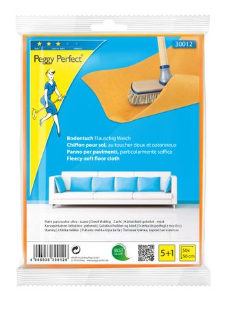 Peggy Perfect Bodentuch Vlies orange 5+1 Pack