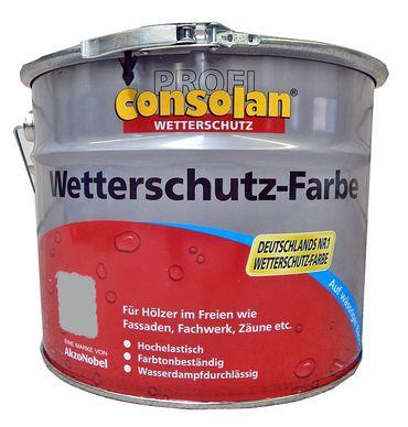 CONSOLAN PROFI Wetterschutz Farbe GRAU seidenglänzend 10 Liter