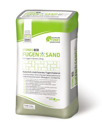 STONES ECO Fugensand 1-20 mm, 25 kg (grau)