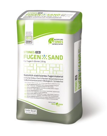 STONES ECO Fugensand 1-20 mm, 25 kg (basalt)