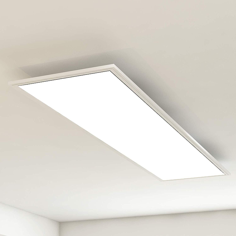 BRILONER LED Panel Deckenleuchte Simple WEISS Kunststoff Metall 119,5 x 29,5 cm   BAUDI   Der ...