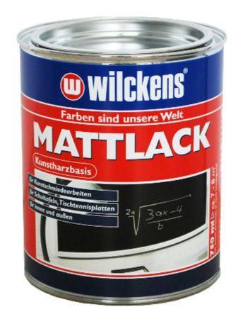 WILCKENS Mattlack Schultafel Lack SCHWARZ 0,75 Liter