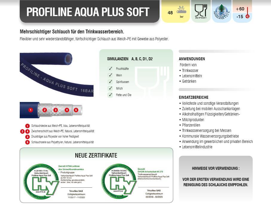 Trinkwasserschlauch Profiline Aqua Plus Soft
