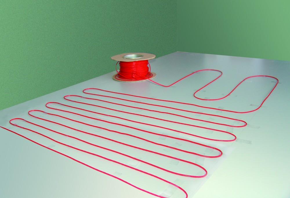 fu bodenheizung elektro lose heizleitung zum individuellen verlegen twin technik f r 1 20 qm. Black Bedroom Furniture Sets. Home Design Ideas