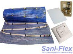 Fußbodenheizung Warmwasser, Doppelrohr, Fläche 2,5 - 20qm, elektr. Regelbox im UP-Kasten mit RTL Funktion, Stellantrieb und 220V Raumthermostat