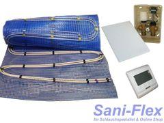 Fußbodenheizung Warmwasser, Doppelrohr, Fläche 2,5 - 20qm, elektr. Regelbox im UP-Kasten mit RTL Funktion, Stellantrieb und programmierbarem 220V Raumthermostat