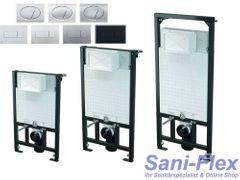 WC Vorwandelement inkl. Drückerplatte zur Eckmontage Unterputzspülkasten Hänge-WC Bauhöhen 85 100 120 cm