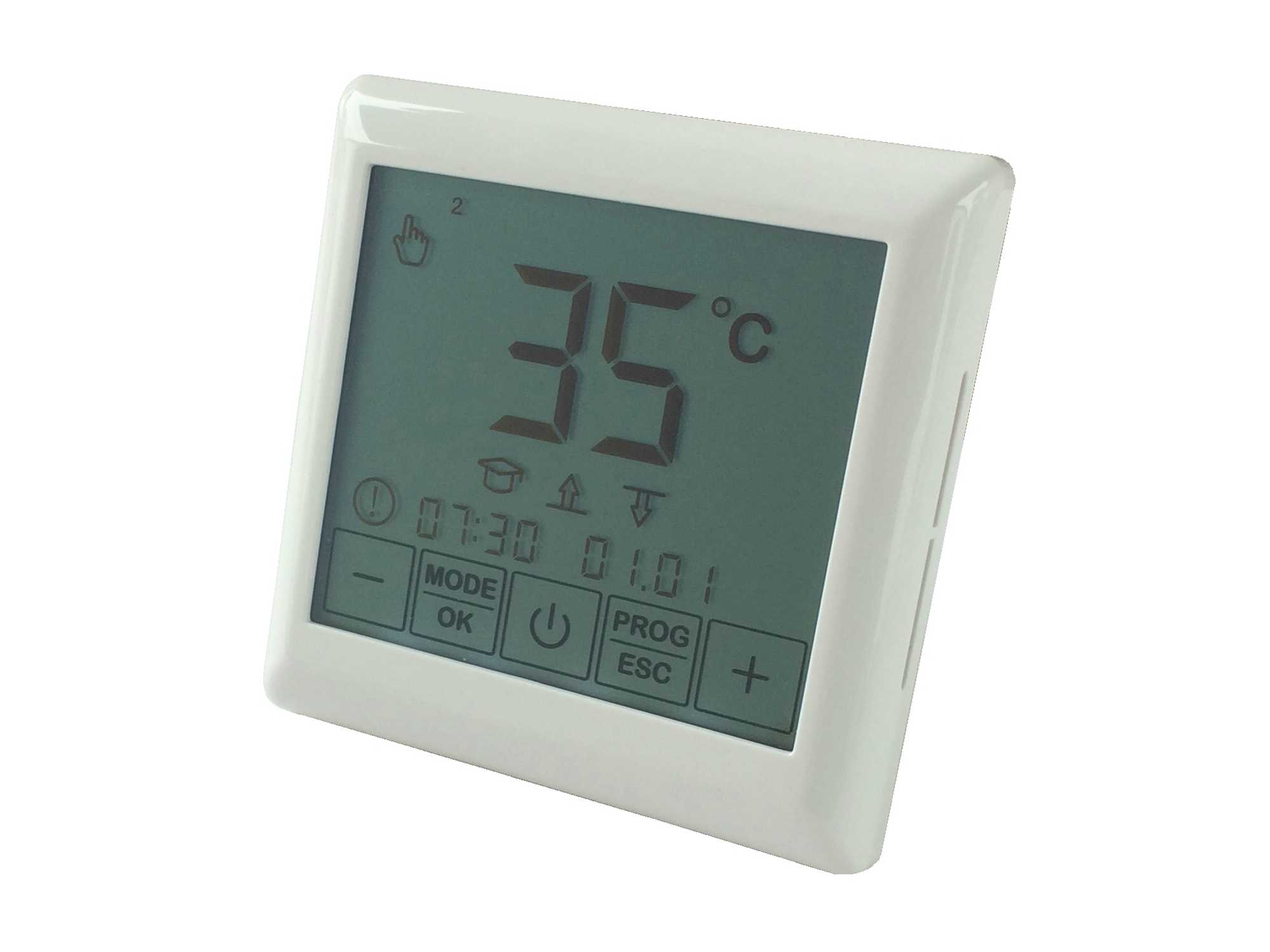 thermostat digitalregler touch f r elektro fu bodenheizung. Black Bedroom Furniture Sets. Home Design Ideas