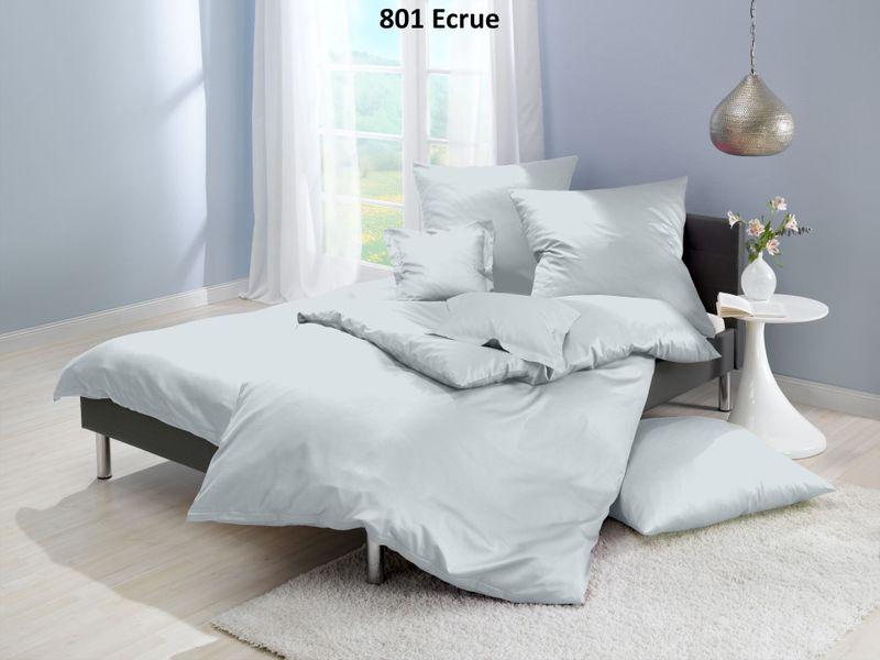 Satin-Bettwäsche einfarbig, Farbgruppe natur – Bild 8