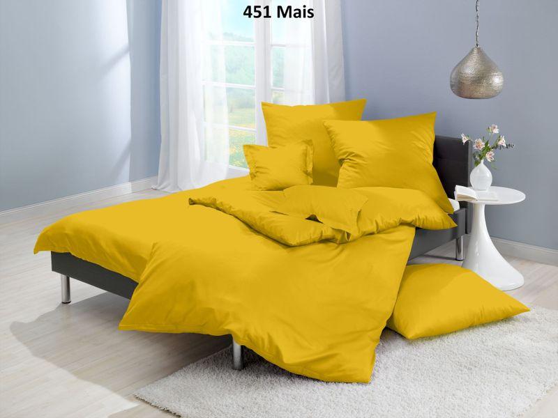 Satin-Bettwäsche einfarbig, Farbgruppe gelb – Bild 3