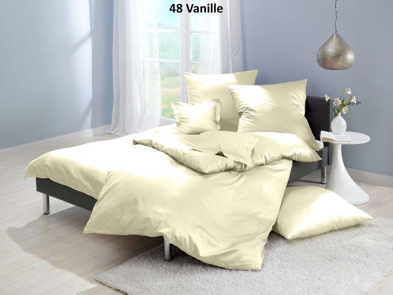 Satin-Bettwäsche einfarbig, Farbgruppe gelb – Bild 5