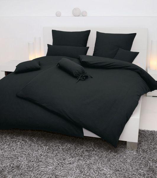 Seersucker-Bettwäsche, einfarbig,  Farbgruppe: weiß/natur/grau – Bild 9