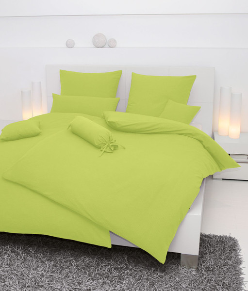 Seersucker-Bettwäsche, einfarbig,   Farbgruppe: grün – Bild 2