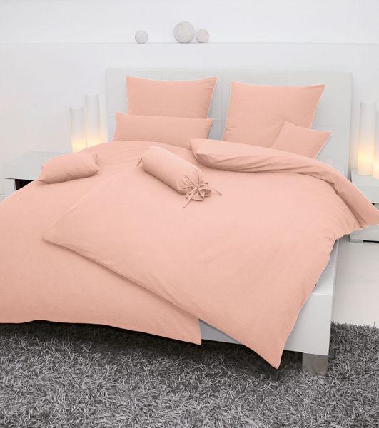 Seersucker-Bettwäsche, einfarbig,  Farbgruppe: rosa/pink – Bild 4