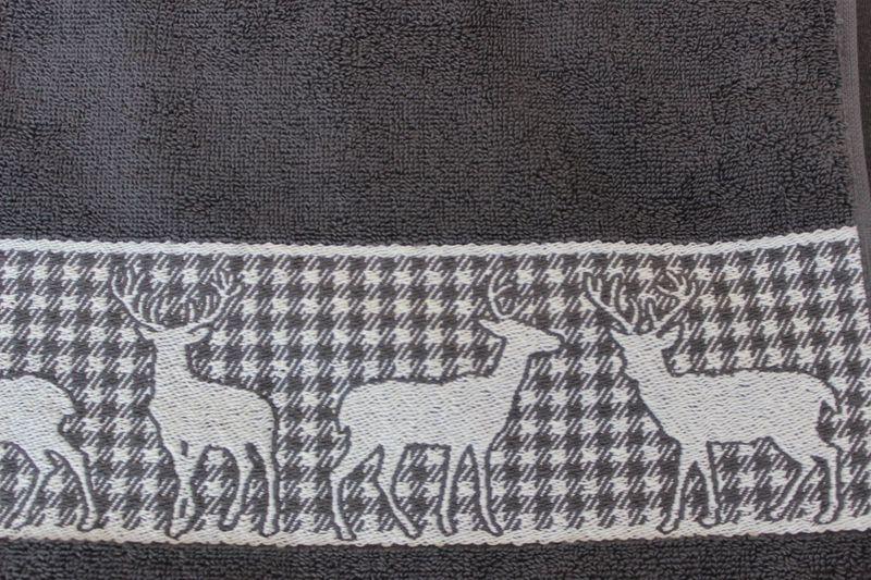 """Handtuch """"Hirsch grau"""" – Bild 3"""