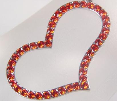 Bettelarmband Armband mit Strass Herz Hyazihth Rot