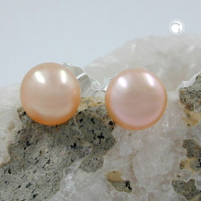 Stecker Perle Rosa echtes Silber 925