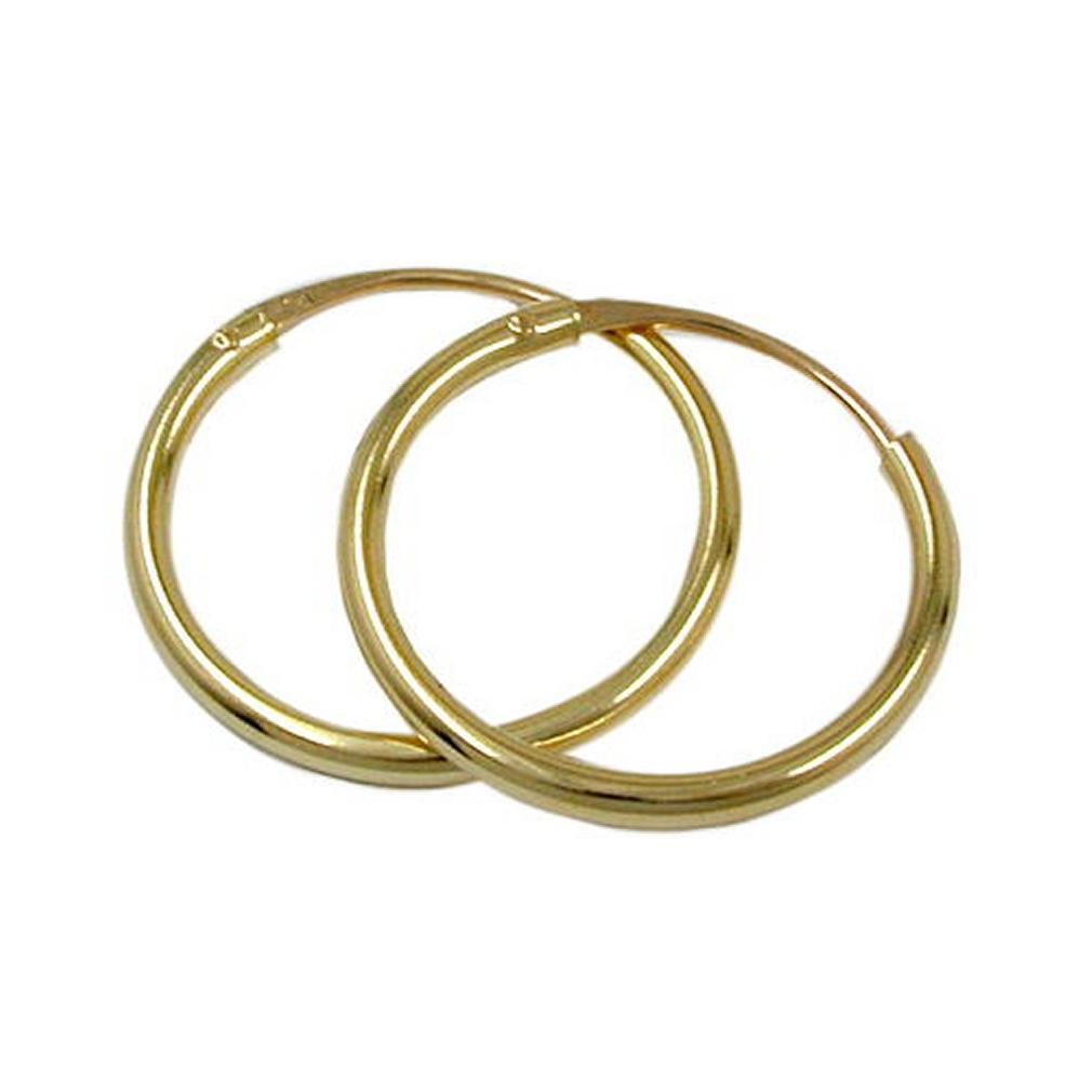 Damen creole aus gold 375 - 375 gold ...