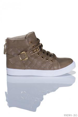 Sneaker hoch für coole Damen in Khaki