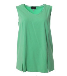 Sempre Piu by Chalou Mode Sommer Top für Damen  in Grün 001