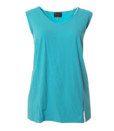Sempre Piu by Chalou Mode Sommer Top für Damen in Türkis 001