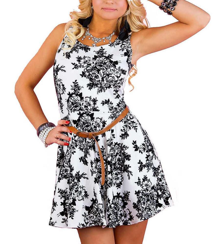 Damen Rockabilly Petticoat Kleid Sommerkleid in Weiß  Mode für Mollige ❤  Damenmode Online Shop für große Größen