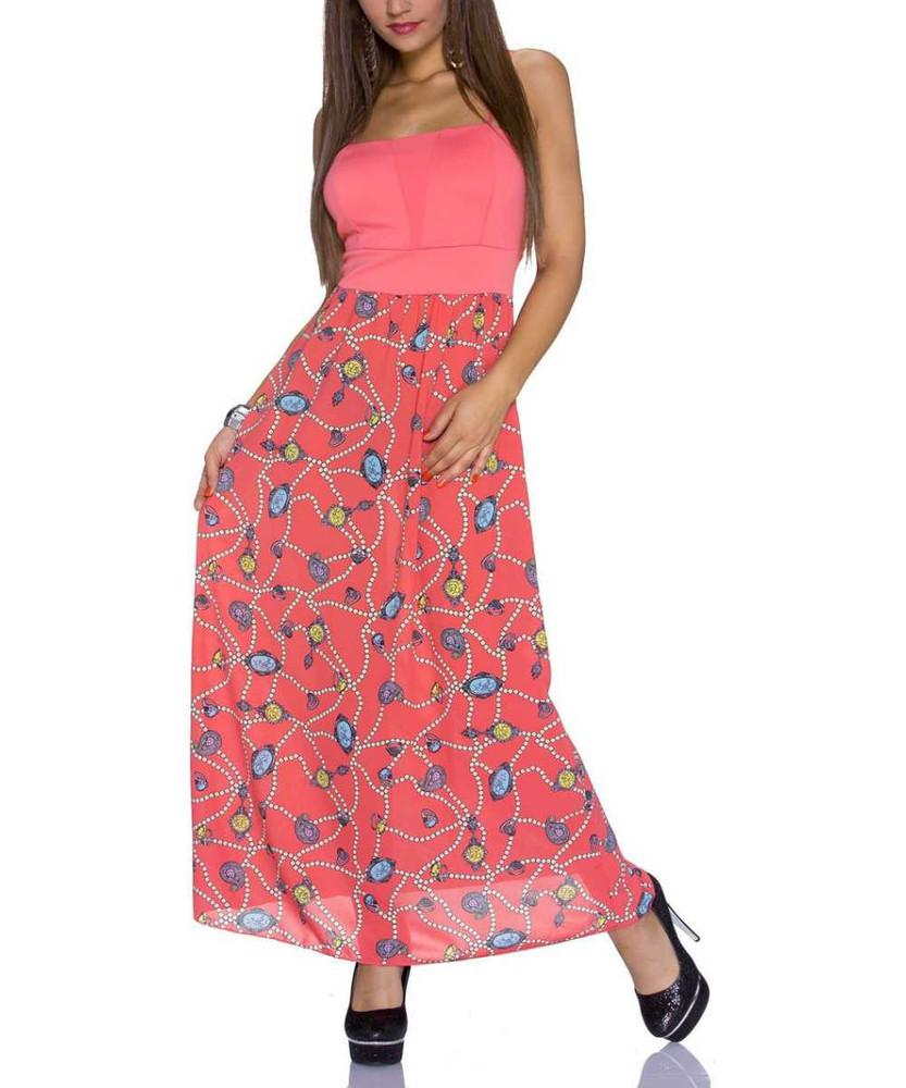 details zu maxikleid für sommer schulterfrei in orange strandkleid  sommerkleid kleid lang