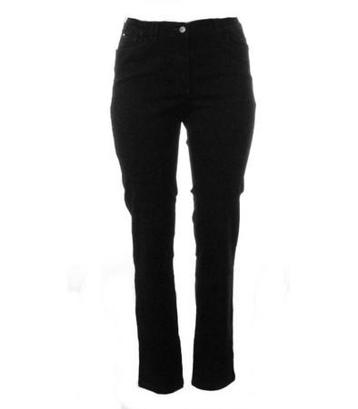 Sempre Piu Damen Jeans Hose große Größen Schwarz