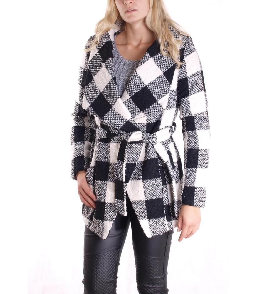 Muster Mollige Mit ❤ Große Shop Online Damenmode Damen Und Bindegürtel Schwarz WeißMode Größen Karo Für Jacke dxBeCor