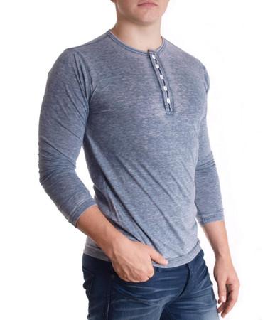 Hailys Longsleeve T Shirt Slim Fit für Herren inGrau