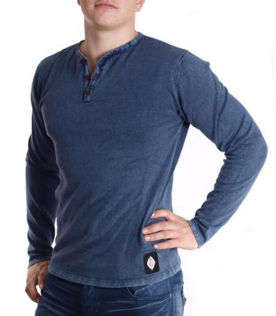 Hailys Strickpullover Sweatshirt für Herren in Blau