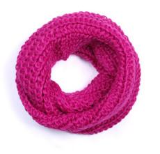 warmer Damen Schlauchschal Loopschal, Pink 001