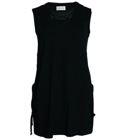 Chalou Damen Longtop Tunika große Größen in schwarz