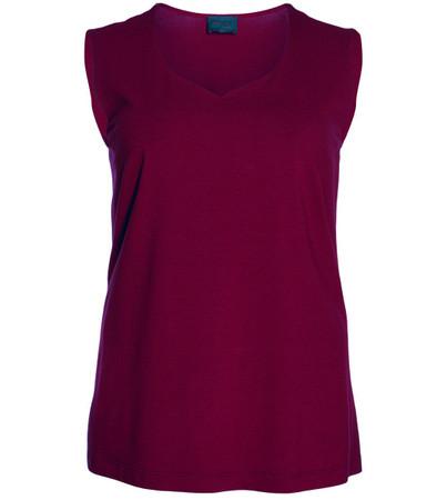 Sempre Piu Damen-Top große Größen Rot Schwarz Weiß