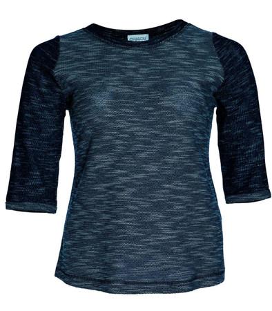 Warmes Chalou Sweatshirt für Damen aus Baumwolle in Blau meliert