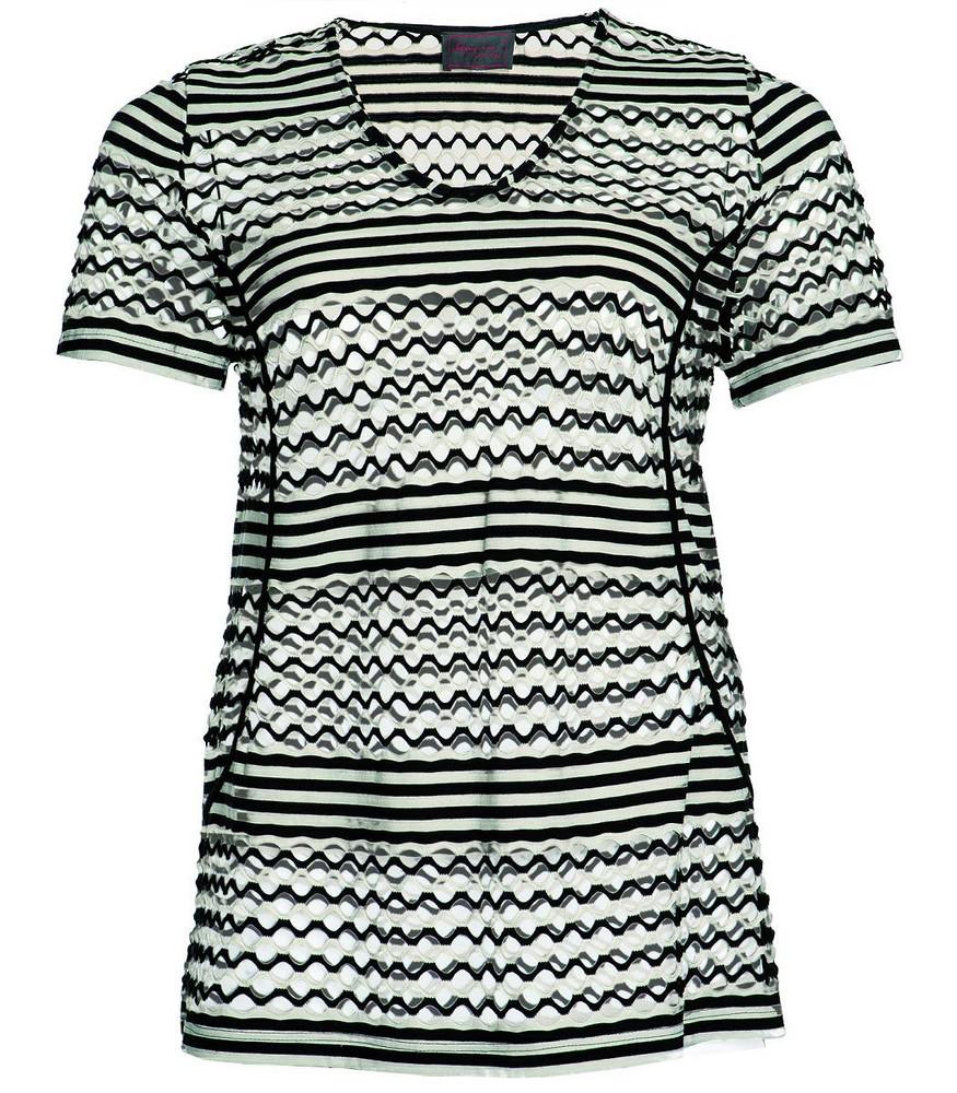 44f52a70905c Lagenlook Pullunder Shirt von Sempre Piu Schwarz   Vanille