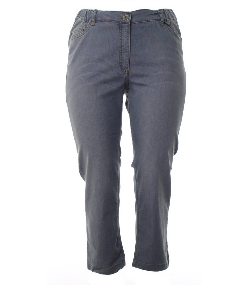 Chalou Damen 78 Jeans Hose in großen Größen Grau   Mode für Mollige ❤ Damenmode Online Shop für große Größen